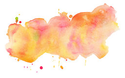 Colorful watercolor stain. Stock Image