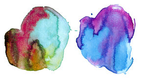 Colorful watercolor stains Stock Photos