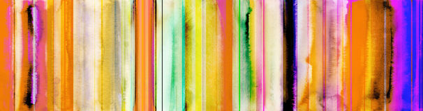 Free Colorful Watercolor Stripes Banner With Added Straight Lines Pat Royalty Free Stock Photos - 95946788
