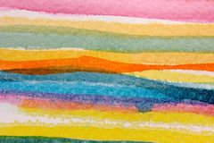 Colorful Watercolor Stripes 4 Royalty Free Stock Images