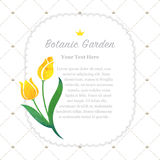 Colorful watercolor texture  nature botanic garden memo fr. Ame yellow tulip Royalty Free Stock Image