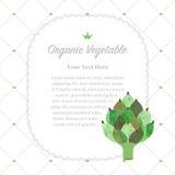 Colorful watercolor texture nature organic fruit memo frame artichoke vector illustration