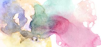 Colorful watercolor texture Royalty Free Stock Image