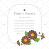 Colorful watercolor texture vector nature botanic garden memo fr. Ame asteraceae brown daisy Stock Images
