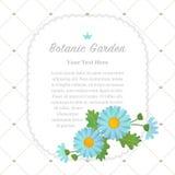 Colorful watercolor texture vector nature botanic garden memo fr. Ame light blue asteraceae daisy Stock Photos