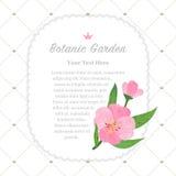 Colorful watercolor texture vector nature botanic garden memo fr. Ame pink evening primrose Royalty Free Stock Photos