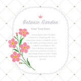 Colorful watercolor texture vector nature botanic garden memo fr. Ame pink forget me not Royalty Free Stock Photography