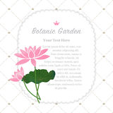 Colorful watercolor texture vector nature botanic garden memo fr. Ame pink lotus Royalty Free Stock Photography