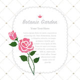 Colorful watercolor texture vector nature botanic garden memo fr. Ame pink rose Royalty Free Stock Photo
