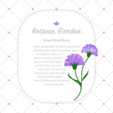 Colorful watercolor texture vector nature botanic garden memo fr. Ame purple carnations Stock Photography
