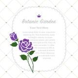 Colorful watercolor texture vector nature botanic garden memo fr. Ame purple rose Stock Image
