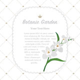 Colorful watercolor texture vector nature botanic garden memo fr. Ame white orchid Stock Photography