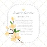 Colorful watercolor texture vector nature botanic garden memo fr. Ame yellow magnolia Stock Photo