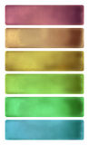Colorful watercolor textured banner set Stock Image