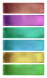 Colorful watercolor textured banner set Royalty Free Stock Images
