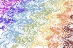 Free Colorful Watercolor Wave Abstract Texture Background. Illustration. Royalty Free Stock Image - 190438746