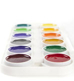 Colorful Watercolors. Colourful Watercolors Palette  on White Background Royalty Free Stock Image