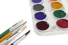 Colorful Watercolors Stock Photo