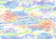 Colorful watercolors on textured paper - abstract backround Stock Image