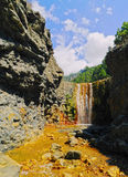 Colorful Waterfall On La Palma Stock Images