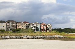 Colorful Waterfront Homes Royalty Free Stock Photography