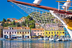 Colorful waterfront of Island Losinj Royalty Free Stock Images