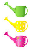 Colorful Watering cans. Vector Stock Photography