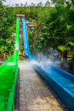 Colorful waterslide in Vinpearl water park Royalty Free Stock Image