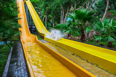 Colorful waterslide in Vinpearl water park Royalty Free Stock Photography
