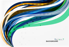 Colorful wave abstract background. Vector template background for workflow layout, diagram, number options or web design Stock Photo