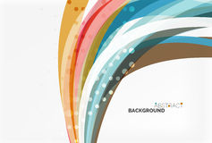 Colorful wave abstract background. Vector template background for workflow layout, diagram, number options or web design stock illustration