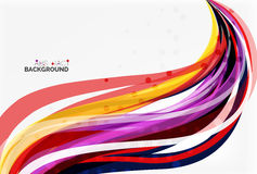 Colorful wave abstract background. Vector template background for workflow layout, diagram, number options or web design Royalty Free Stock Photo