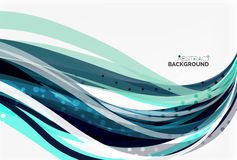 Colorful wave abstract background Stock Images