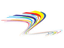 Colorful wave background Stock Image