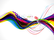 Colorful wave background with arrow Stock Images