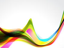 Colorful Wave Background With Grunge Royalty Free Stock Photo