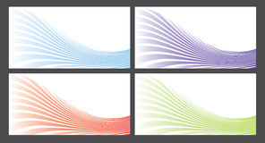 Colorful wave background vector Royalty Free Stock Photo