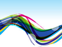 Colorful Wave Background Stock Photography