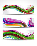 Colorful Wave Banner Set Stock Images