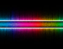 Colorful wave on black background. Template design Stock Photography