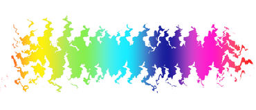 Colorful wave on black background. Template design Royalty Free Stock Image