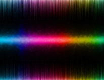 Colorful wave on black background. Template design Royalty Free Stock Images