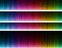 Colorful wave on black background. Template design Stock Images