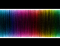 Colorful wave on black background. Template design Royalty Free Stock Photos