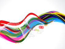 Colorful Wave With Dotts Stock Photography