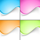Colorful wave folder templates set Royalty Free Stock Photo