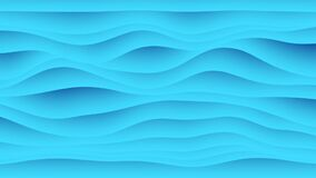Colorful wave gradient animation.. Future geometric patterns motion background. 3d rendering stock footage