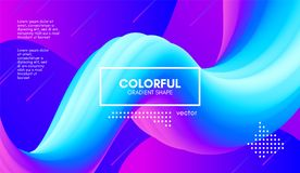 Colorful Wave Gradient Shape. Abstract 3d Background. Abstract Gradient Background with Color Liquid Shape. 3d Vector Illustration. Modern Wave Flow Design vector illustration