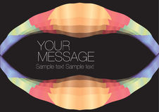 Colorful wave layout design. With own area for own text. Vector illustration stock illustration