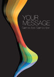 Colorful wave layout design. With own area for own text. Vector illustration royalty free illustration